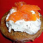 recette BLINIS ET CHANTILLY DE CREVETTES