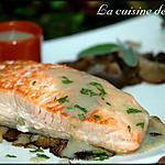 recette Pavés de saumon aux Pleurotes