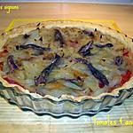 recette tarte aux oignons, tomates & anchois