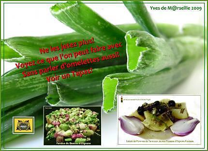 Que faire du vert d'oignon ? dans Nourriture