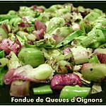 recette Fondue de Queue d'oignons
