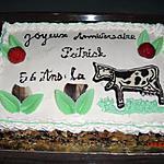 recette GATEAU CREME MOUSSELINE /COULIS DE FRAISES