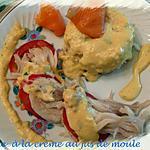 recette raie à la crème au jus de  moule
