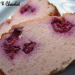 recette ** Gâteau / cake / Cheese cake  rose poudré au fromage frais aux biscuits de Reims et aux framboises (léger)**