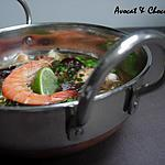 ** Soupe express aux crevettes, petits pois, champignons noirs & vermicelles de riz chinois**