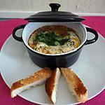 recette Oeufs cocotte épinards/raclette Richemont