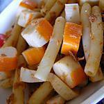 recette Pâtes au surimi