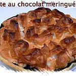 tarte au chocolat meringué