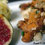recette ** Poêlée de girolles et de châtaignes accompagnée d'un ecrasé de pomme de terre à l'huile d'olive aux noisettes éclatées**