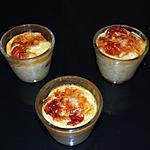 recette Petites Crèmes Ricotta Comté Parmesan (pour 3):