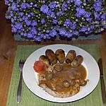 recette beefteak aux champignons et grenailles rissolées.