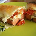 recette Brick aux knaki,boursin et tomates fraiches