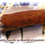 recette baguette fourrée au boursin et saumon fumé