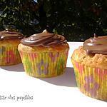 recette ~Muffins aux bananes et au coeur de Nutella~