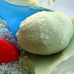 recette crèmes coco/thé Matcha au tofu