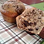 recette muffins a la noisette et pépites de chocolat