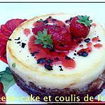 recette cheese-cake et coulis de fraise