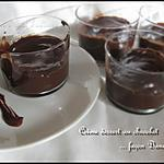 recette Crèmes dessert au chocolat façon danette