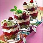 recette Recette de verrine : Tiramisu aux framboises