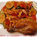 recette tagliatelle au courgette,légumes du soleil
