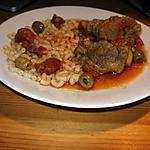 recette Sauté de veau au chorizo, poivrons, tomates