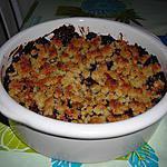 recette Crumble aux poires et au chocolat