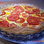 recette Tarte fine tomate-cheddar