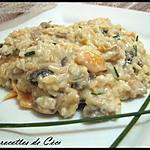 recette Risotto au saumon fumé et champignons