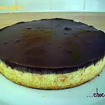 recette Bavarois pêche-chocolat