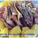 recette roti de porc au bacon et cheddar