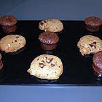 """recette """"Muffins"""" Chocolat-Nutella:"""