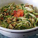 recette Salade de courgette aux noix