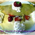recette crèpe fourré fraise et mascarpone