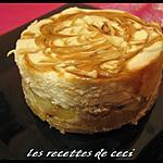 recette Petit délice au dulce de leche sur pommes caramélisées