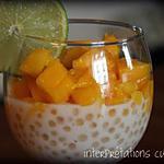 recette verrines tapioca-mangue