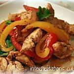 recette wok de poulet aux poivrons, miel et sésame