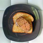 recette Tartine d'automne au foie gras