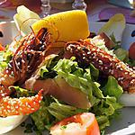 recette langoustines en salade