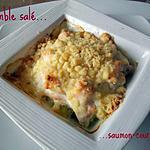 recette Crumble salé saumon-courgette