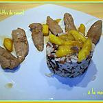 recette Aiguillettes de canard à la mangue
