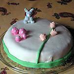 recette gâteau à la poire et à la pâte à sucre