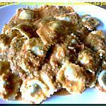 raviolies à la crème de légumes, et janbon de parme