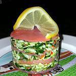 recette 1000 feuilles de saumon fumé au surimi