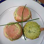 recette Petite Mousse de Courgettes enrobé  de Saumon