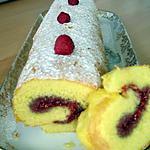 recette Torta de Framboesa (Roulé aux Framboises)