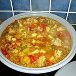 recette tajine de poulet au poivrons et pommes de terre