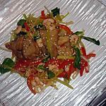 recette Sauté de poisson crevettes et légumes