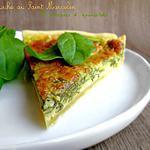 recette Quiche au Saint Marcellin & Pousses d'Epinards
