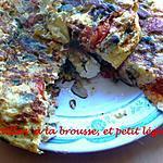 recette tortillas à la brousse, et petit légumes