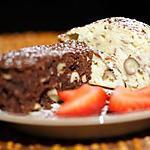 recette Duo de cakes noir et blanc aux noisettes